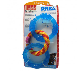 Petstages Orka Dental Links Игрушка для собак кольца