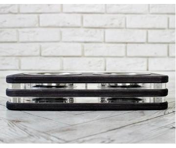 КІТ-ПЕС by smartwood the black Миска на подставке ХS-2