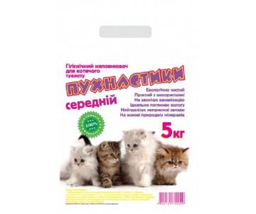 Пушистики средний минеральный песок без аромата для котов