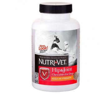 Nutri-Vet Hip&Joint Extra связки суставы екстра 1 уровень, хондроитин и глюкозамин для собак с МСМ