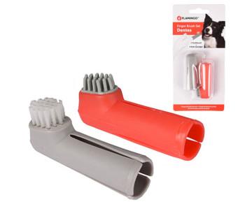 Flamingo Finger Toothbrush Set набор зубная щетка на палец