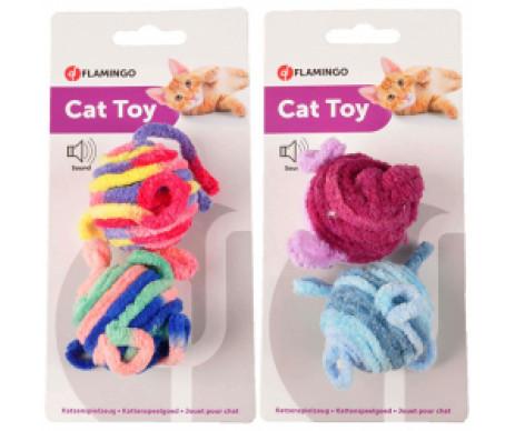 Flamingo Woolen Balls ШЕРСТЯНЫЕ МЯЧИ игрушка для котов