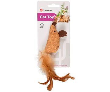 Flamingo Adamello Mouse Soft Wood МЫШЬ пробковая игрушка с кошачьей мятой
