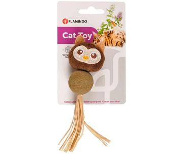 Flamingo Catnip Owl игрушка с кошачьей мятой