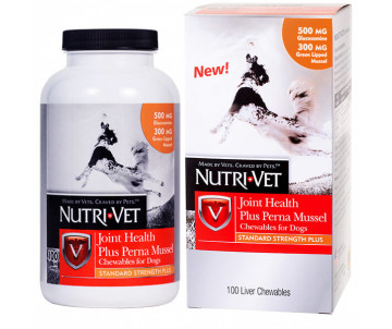 Nutri-Vet Joint Health Plus Perna Mussel жевательные таблетки с глюкозамином, мидиями, МСМ для собак