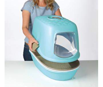 Trixie Berto Туалет с рамкой и сеткой закрытый для котов