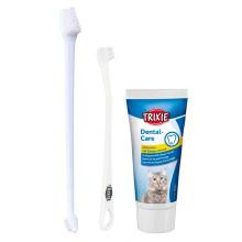 Trixie Зубная паста с щеткой для котов