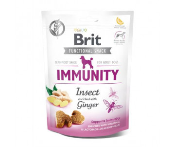 Brit Care Immunity Лакомства насекомые с имбирем для собак