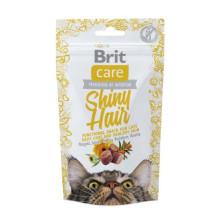 Brit Care Shiny Hair Лакомства с лососем для котов