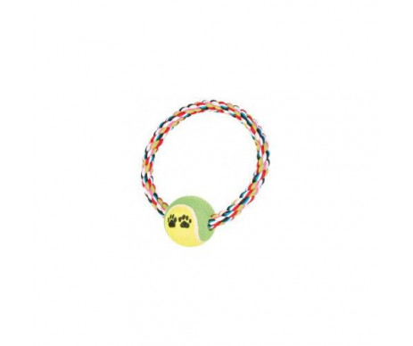 Trixie Канат плетёный с теннисным мячом