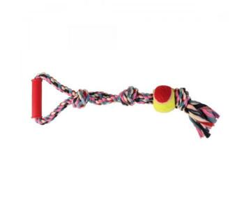 Trixie Канат плетёный с ручкой и мячём