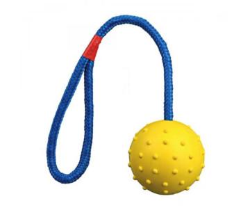 Trixie Мяч на верёвке с ручкой