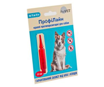 ProVET ПрофиЛайн капли от блох и клещей для собак 1 пипетка