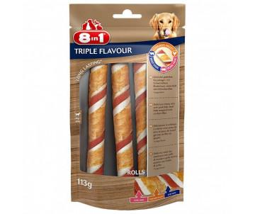 8in1 Triple Flavour Лакомство Трубочки для собак