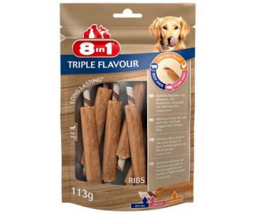 8in1 Triple Flavour Лакомство Ребрышки для собак