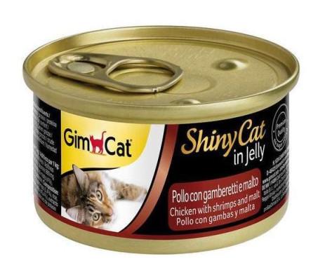 GimCat Shiny Adult Chicken Shrimp Malt Jelly