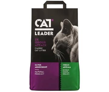 Cat Leader Classic 2xOdour Attack Fresh супер-впитывающий наполнитель в кошачий туалет