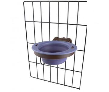 Dexas Collapsible Kennel Bowl Миска складная с креплением на клетку, 240 мл