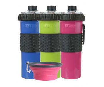Dexas H-DuO with Companion Cup Бутылочка двойная для воды со складной миской