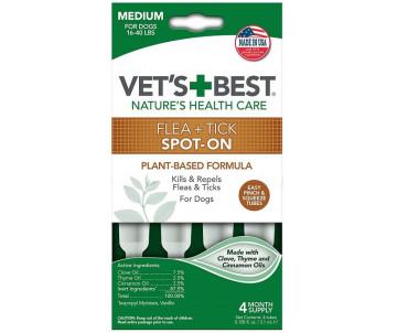Vet's Best Flea&Tick Drops Medium Капли от блох и клещей для собак весом от 7 до 18 кг
