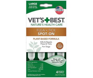 Vet's Best Flea&Tick Drops Large Капли от блох и клещей для собак весом от 18 кг
