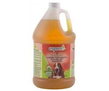 Espree Luxury Tar & Sulfa Itch Relief Shampoo Лечебный шампунь с серой от перхоти с терапевтическим эффектом для собак
