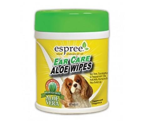 Espree Aloe Ear Care Pet Wipes Салфетки для удаления ушной серы и неприятных запахов для собак и котов