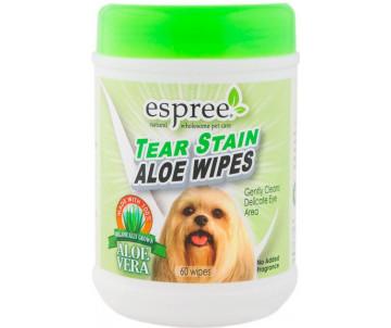Espree Aloe Tear Stain Wipes Салфетки для чистки шерсти вокруг глаз у собак