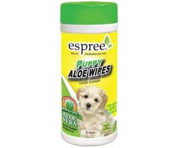 Espree Puppy Pet Care Wipes Влажные салфетки для очищения чувствительной кожи и шерсти щенков