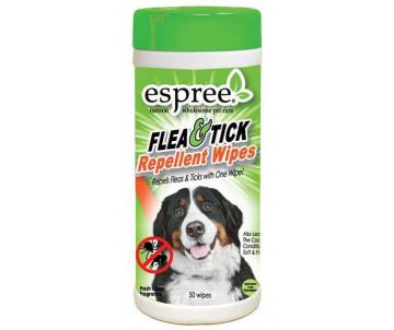 Espree Flea&Tick Wipes Влажные салфетки для дополнительной защиты от блох и клещей для собак