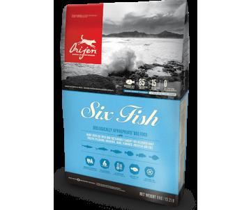 Orijen 6 Fish Dog Сухой корм для собак всех пород и возрастов со вкусом рыбы