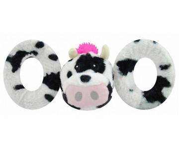 Jolly Pets TUG-A-MAL Cow Dog Toy Игрушка-пищалка для перетягивания