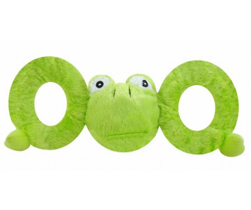 Jolly Pets TUG-A-MAL Frog Игрушка-пищалка для перетягивания