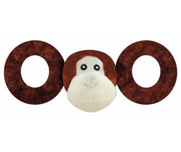 Jolly Pets TUG-A-MAL Monkey Игрушка-пищалка для перетягивания