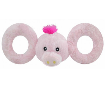 Jolly Pets TUG-A-MAL Pig Игрушка-пищалка для перетягивания