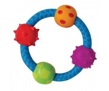 Petstages Multi Texture Chew Ring Канат-кольцо с мячиками