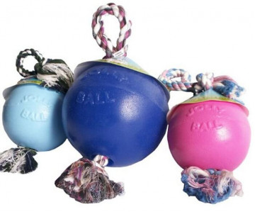 Jolly Pets ROMP-N-ROLL L Игрушка для собак мяч с канатом