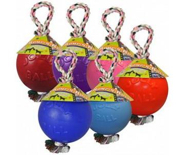 Jolly Pets ROMP-N-ROLL S Игрушка для собак мяч с канатом