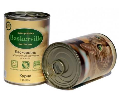 Baskerville Cat Chicken&Rice Wet
