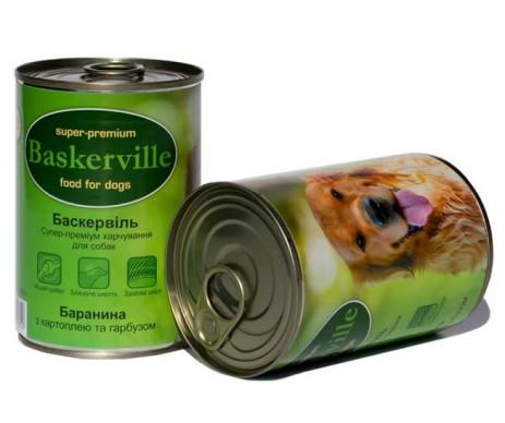 Baskerville Влажный корм для собак, баранина с картофелем и тыквой