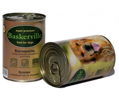 Baskerville Dog Adult Rabbit Wet