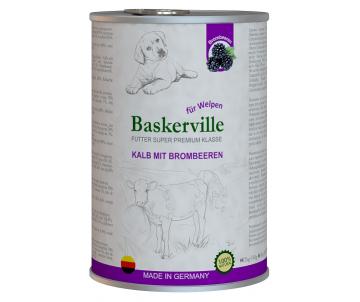 Baskerville Super Premium Dog Puppy Kalb Mit Brombeeren Wet