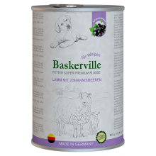 Baskerville Super Premium Dog Puppy Lamm Mit Johannisbeeren Wet