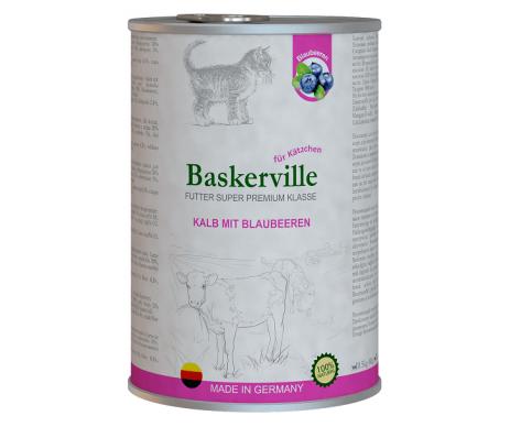 Baskerville Kitten Super Premium Kalb Mit Brlaubeeren
