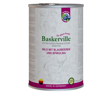 Baskerville Dog Adult Sensitive Wild Mit Blaubeeren und Spirulina Wet