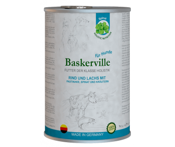 Baskerville Holistic Dog Adult Rind und Lachs Wet