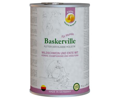 Baskerville Holistic Wildschwein und Ente Mit Kurbis Влажный корм для собак, кабан и утка с тыквой