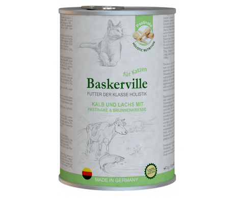 Baskerville Holistic Cat Adult Kalb und Lachs Wet