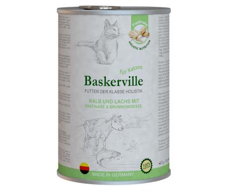 Baskerville Holistic Kalb und Lachs Влажный корм для котов, телятина и лосось