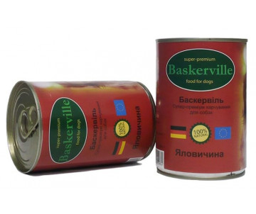 Baskerville Dog Adult beef Wet
